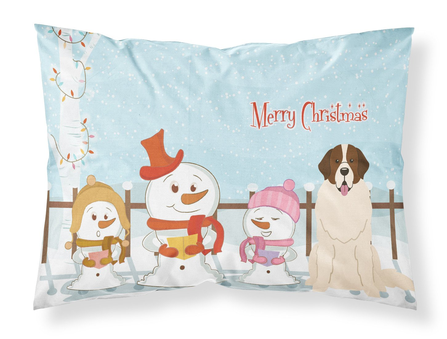 Merry Christmas Carolers Moscow Watchdog Fabric Standard Pillowcase BB2358PILLOWCASE by Caroline's Treasures