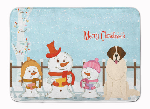 Buy this Merry Christmas Carolers Moscow Watchdog Machine Washable Memory Foam Mat BB2358RUG