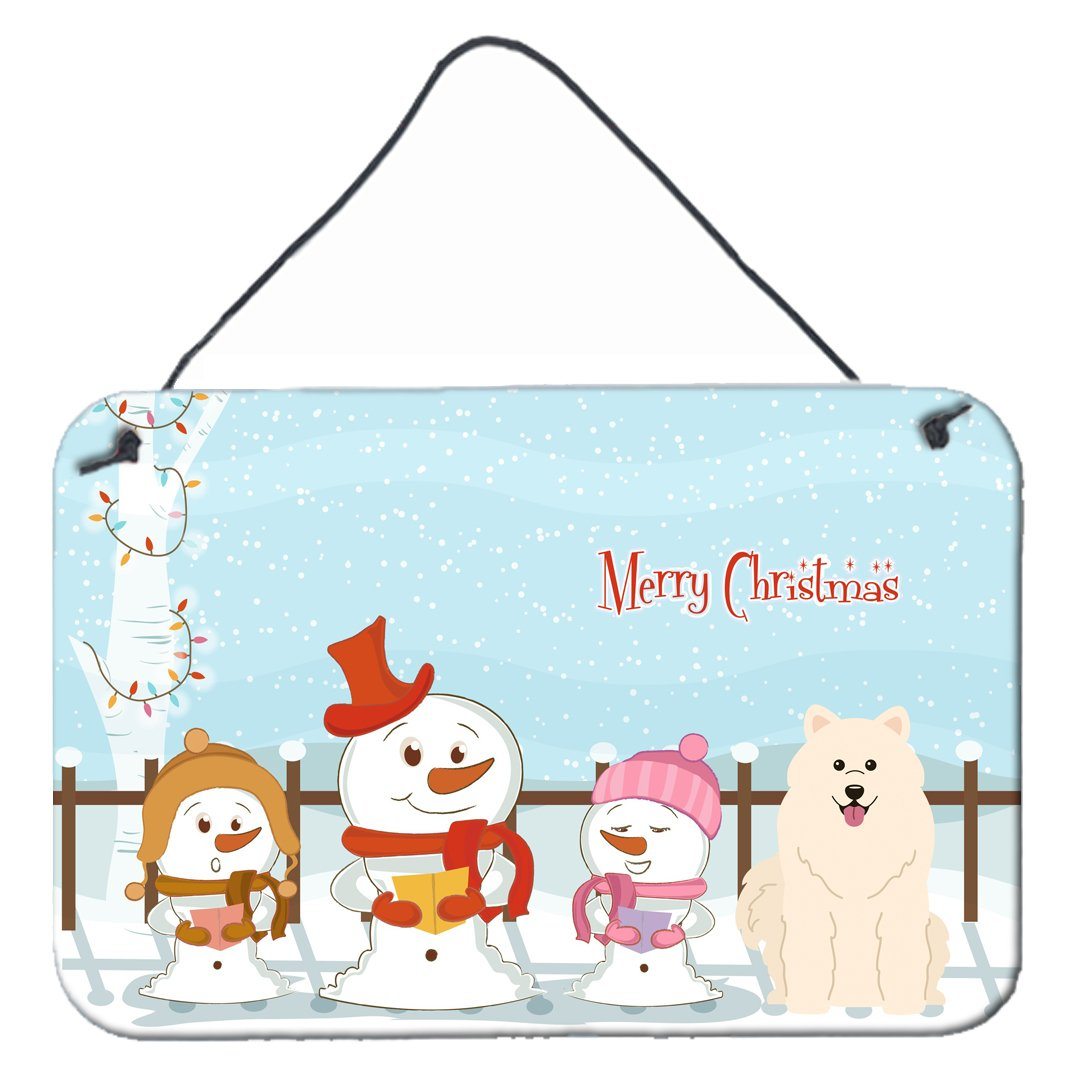 Buy this Merry Christmas Carolers Samoyed Wall or Door Hanging Prints BB2361DS812