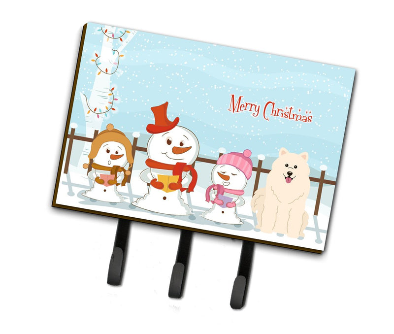 Buy this Merry Christmas Carolers Samoyed Leash or Key Holder BB2361TH68