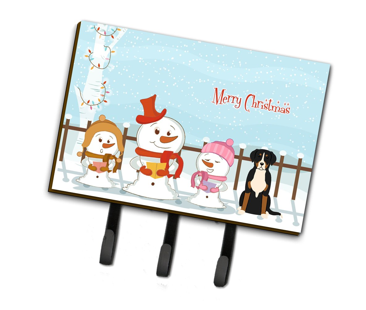 Merry Christmas Carolers Greater Swiss Mountain Dog Leash or Key Holder BB2368TH68 by Caroline's Treasures
