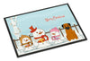 Merry Christmas Carolers Border Terrier Indoor or Outdoor Mat 24x36 BB2370JMAT - the-store.com