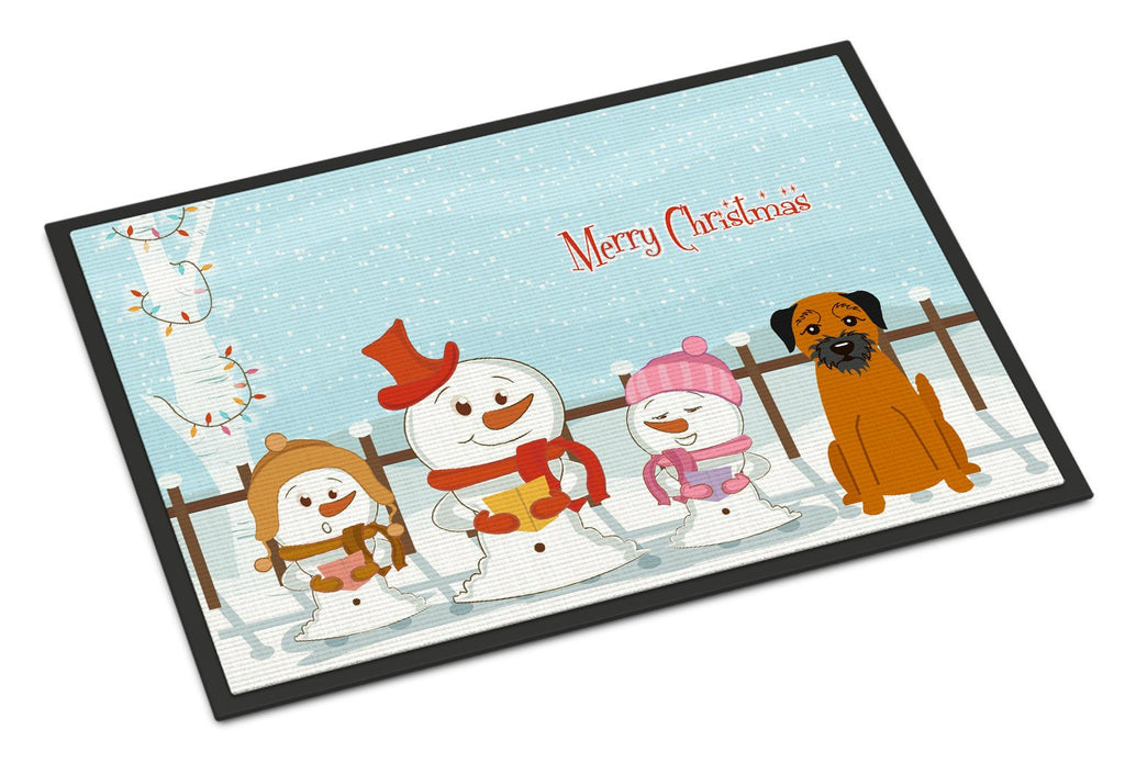 Buy this Merry Christmas Carolers Border Terrier Indoor or Outdoor Mat 18x27 BB2370MAT