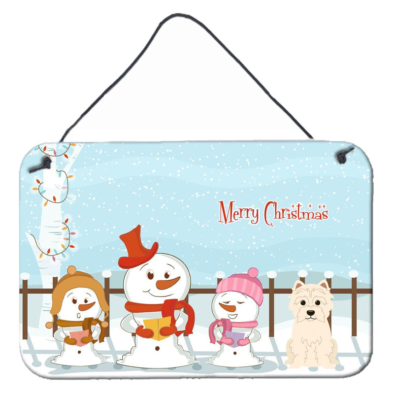 Buy this Merry Christmas Carolers Westie Wall or Door Hanging Prints BB2373DS812