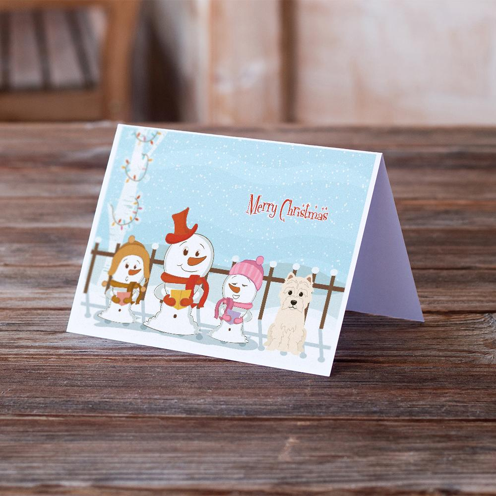 Buy this Merry Christmas Carolers Westie Greeting Cards and Envelopes Pack of 8