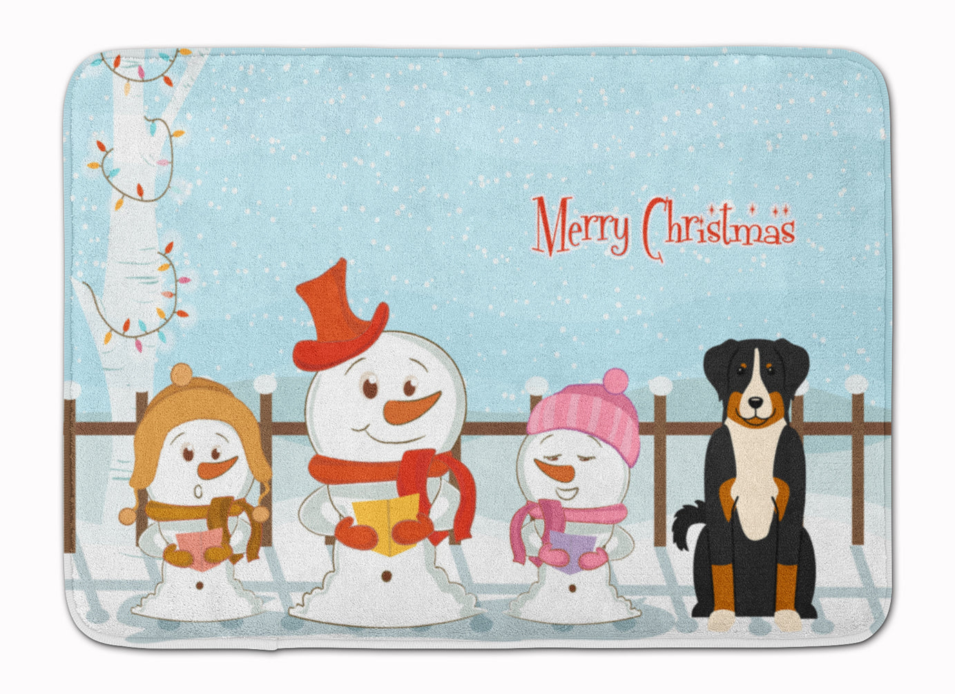 Merry Christmas Carolers Appenzeller Sennenhund Machine Washable Memory Foam Mat BB2374RUG by Caroline's Treasures