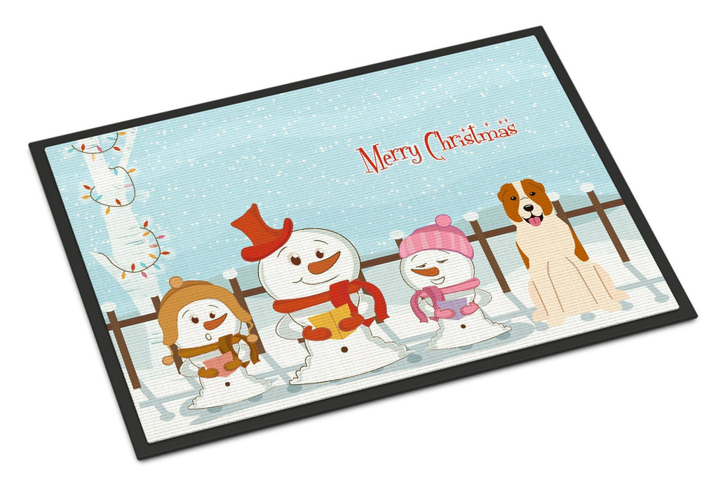 Buy this Merry Christmas Carolers Central Asian Shepherd Dog Indoor or Outdoor Mat 18x27 BB2380MAT