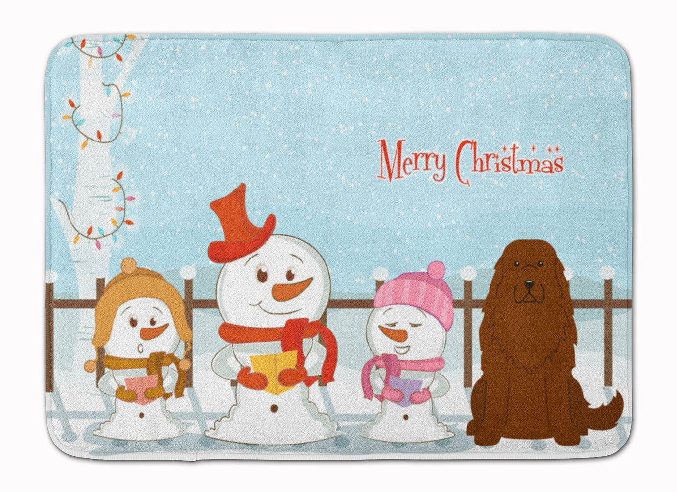 Merry Christmas Carolers Caucasian Shepherd Dog Machine Washable Memory Foam Mat BB2381RUG by Caroline's Treasures