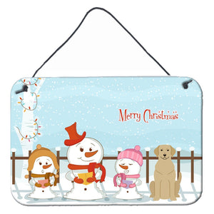 Buy this Merry Christmas Carolers Yellow Labrador Wall or Door Hanging Prints BB2386DS812