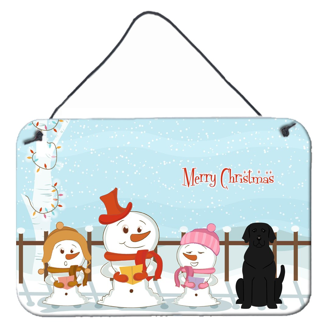 Buy this Merry Christmas Carolers Black Labrador Wall or Door Hanging Prints BB2388DS812