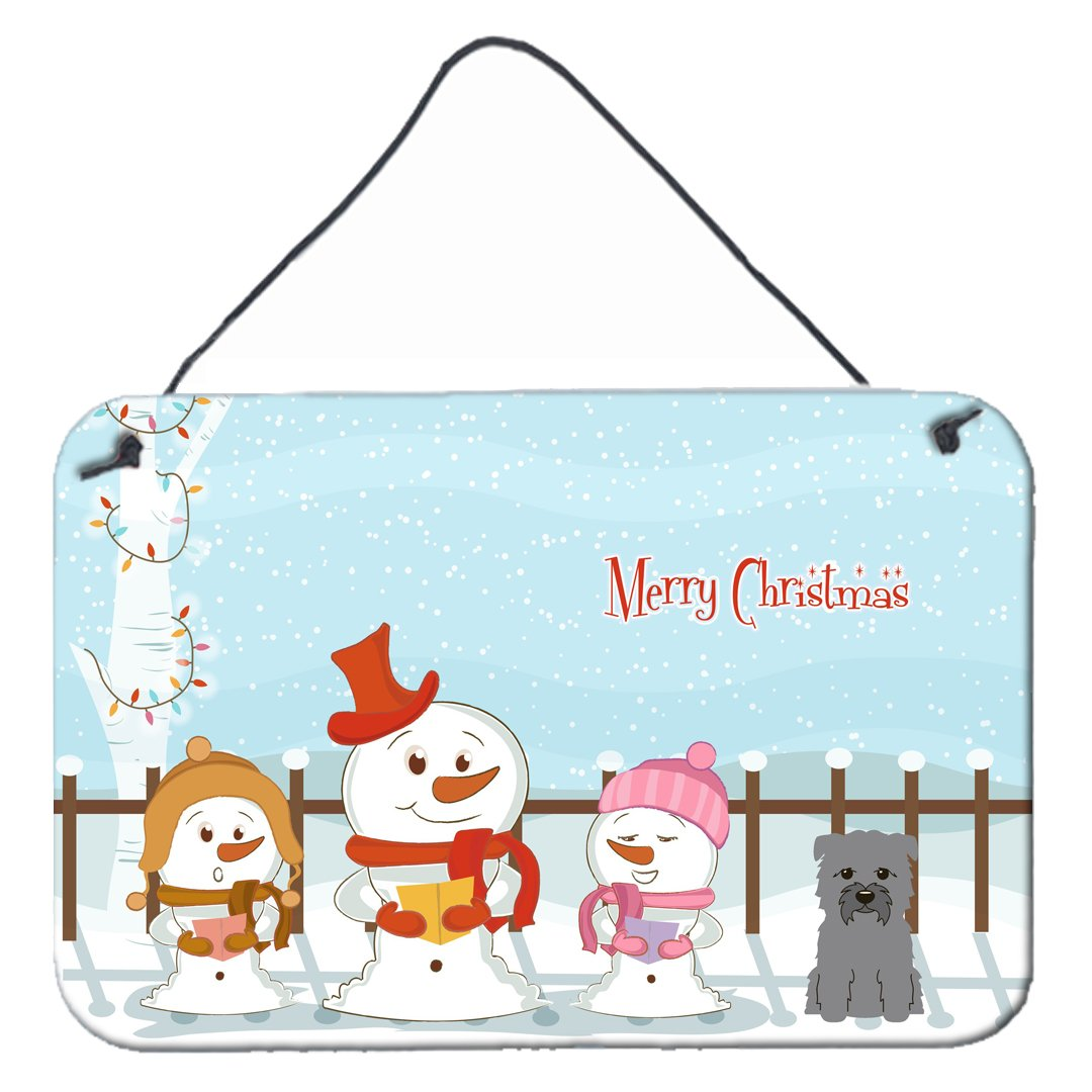 Buy this Merry Christmas Carolers Glen of Imal Grey Wall or Door Hanging Prints BB2390DS812