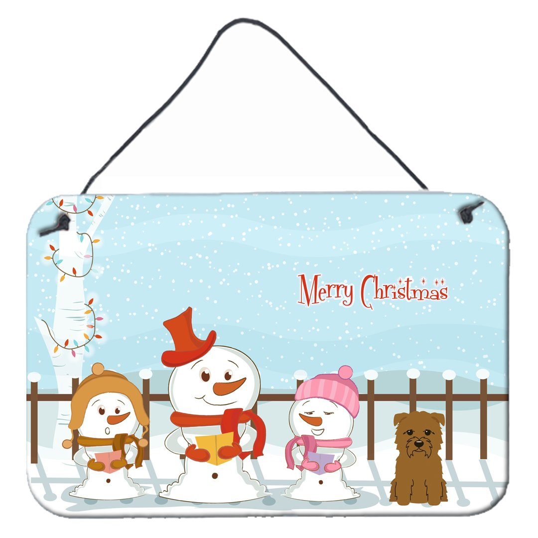 Buy this Merry Christmas Carolers Glen of Imal Tan Wall or Door Hanging Prints BB2391DS812