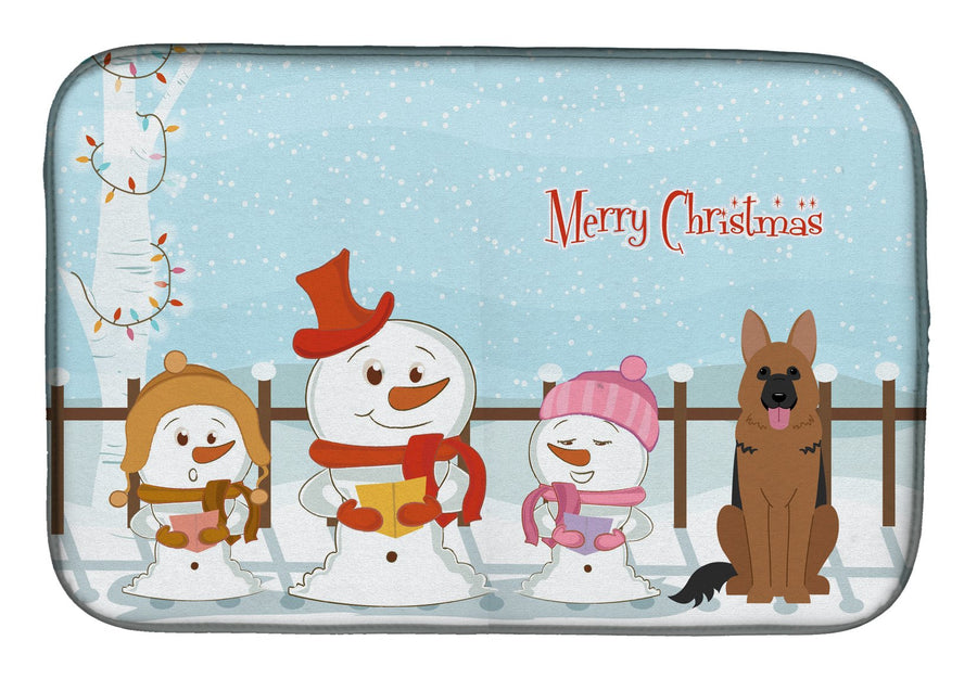 Buy this Merry Christmas Carolers German Shepherd Dish Drying Mat BB2398DDM