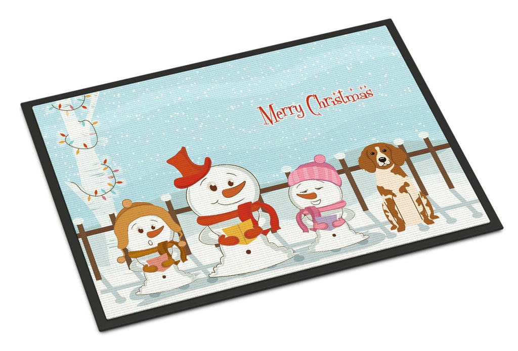 Buy this Merry Christmas Carolers Brittany Spaniel Indoor or Outdoor Mat 18x27 BB2403MAT