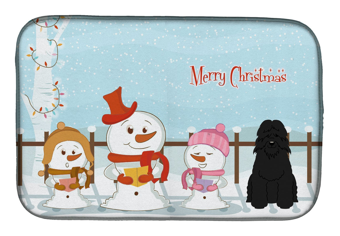 Buy this Merry Christmas Carolers Bouvier des Flandres Dish Drying Mat BB2405DDM