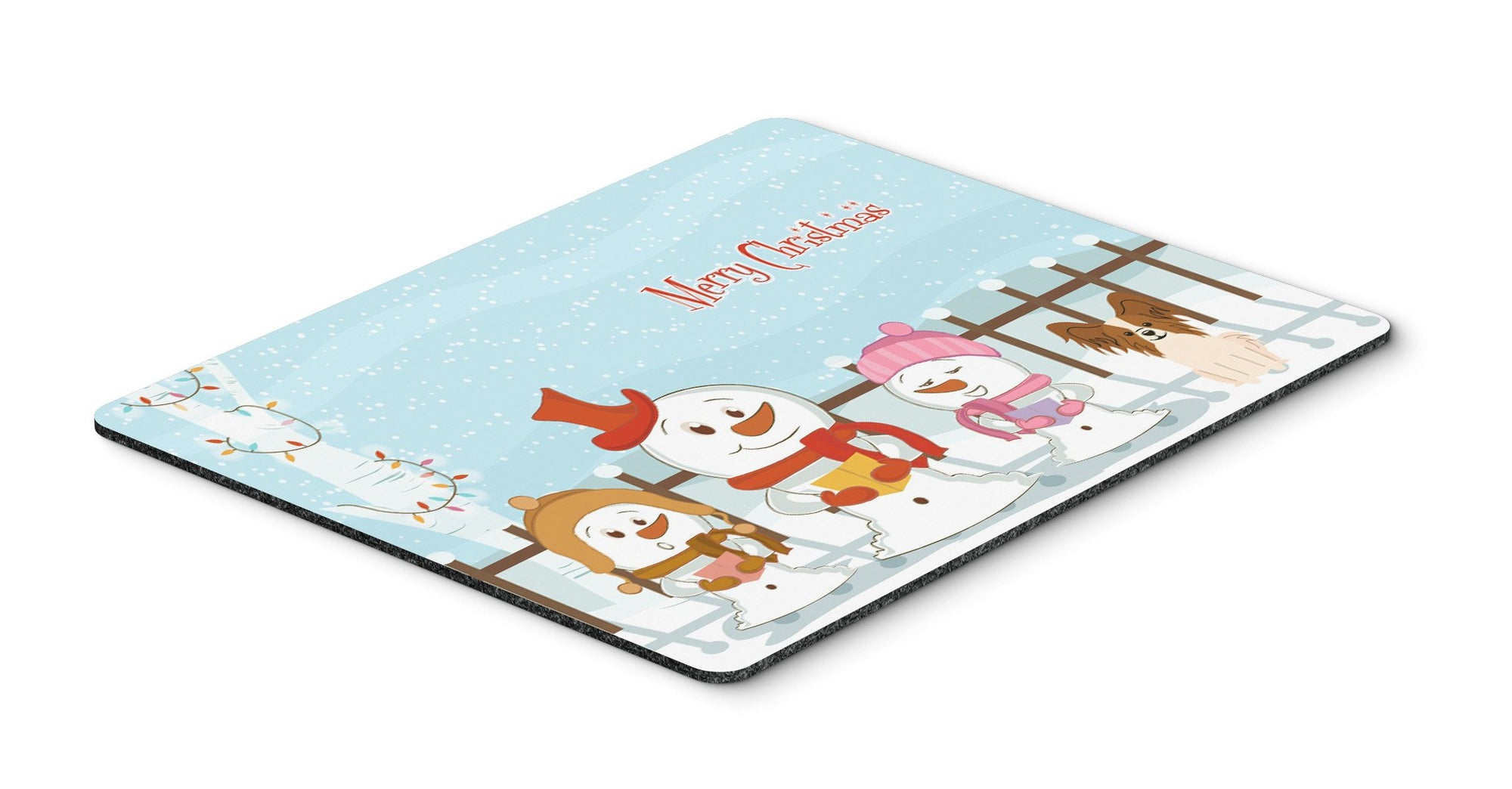 Merry Christmas Carolers Papillon Red White Mouse Pad, Hot Pad or Trivet BB2409MP by Caroline's Treasures