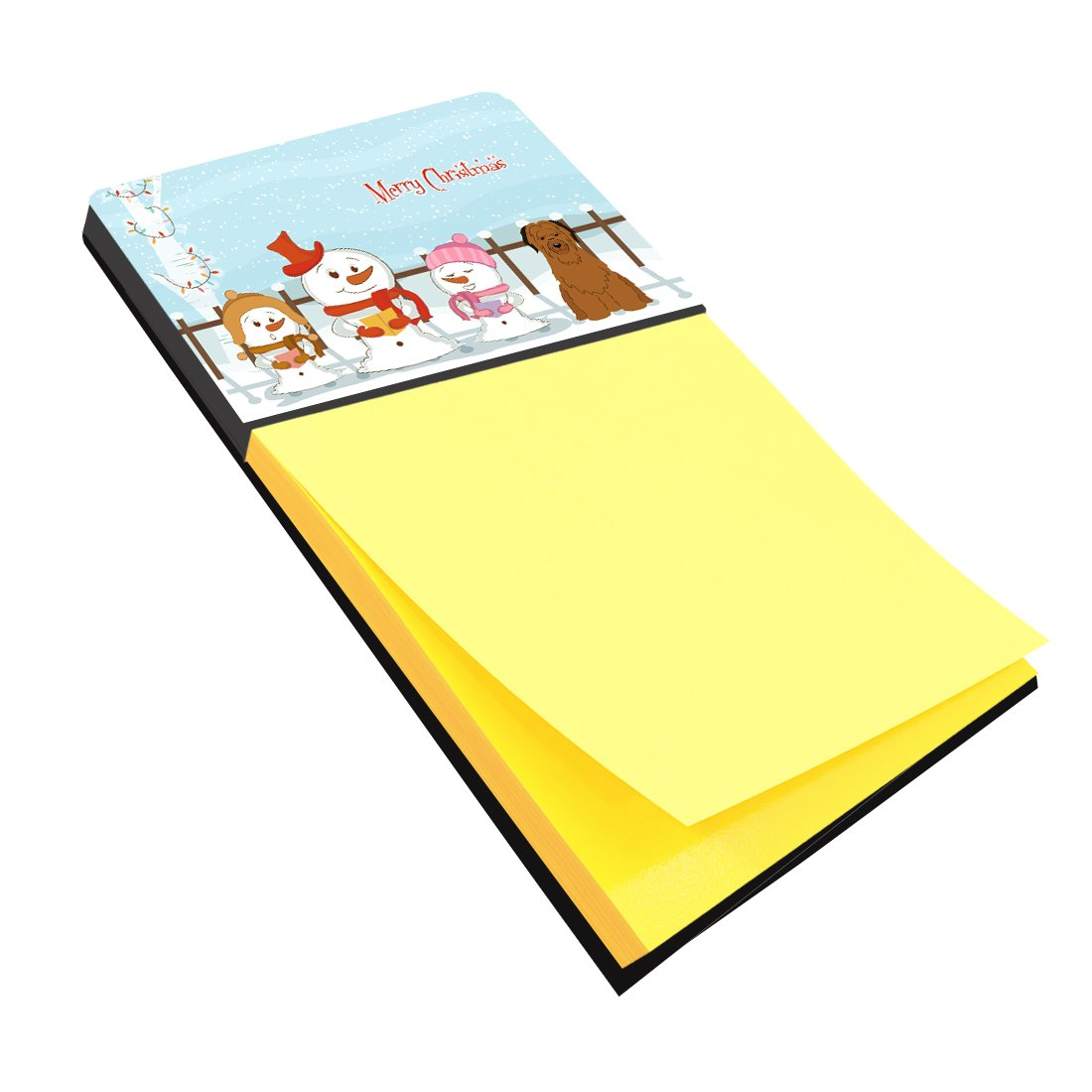 Buy this Merry Christmas Carolers Briard Brown Sticky Note Holder BB2413SN