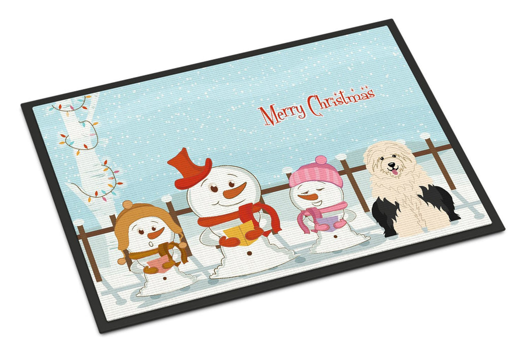 Buy this Merry Christmas Carolers Old English Sheepdog Indoor or Outdoor Mat 24x36 BB2427JMAT