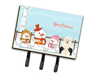 Buy this Merry Christmas Carolers Old English Sheepdog Leash or Key Holder BB2427TH68