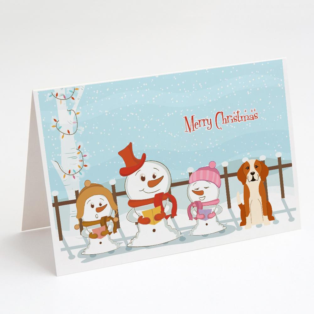 Buy this Merry Christmas Carolers English Foxhound Greeting Cards and Envelopes Pack of 8