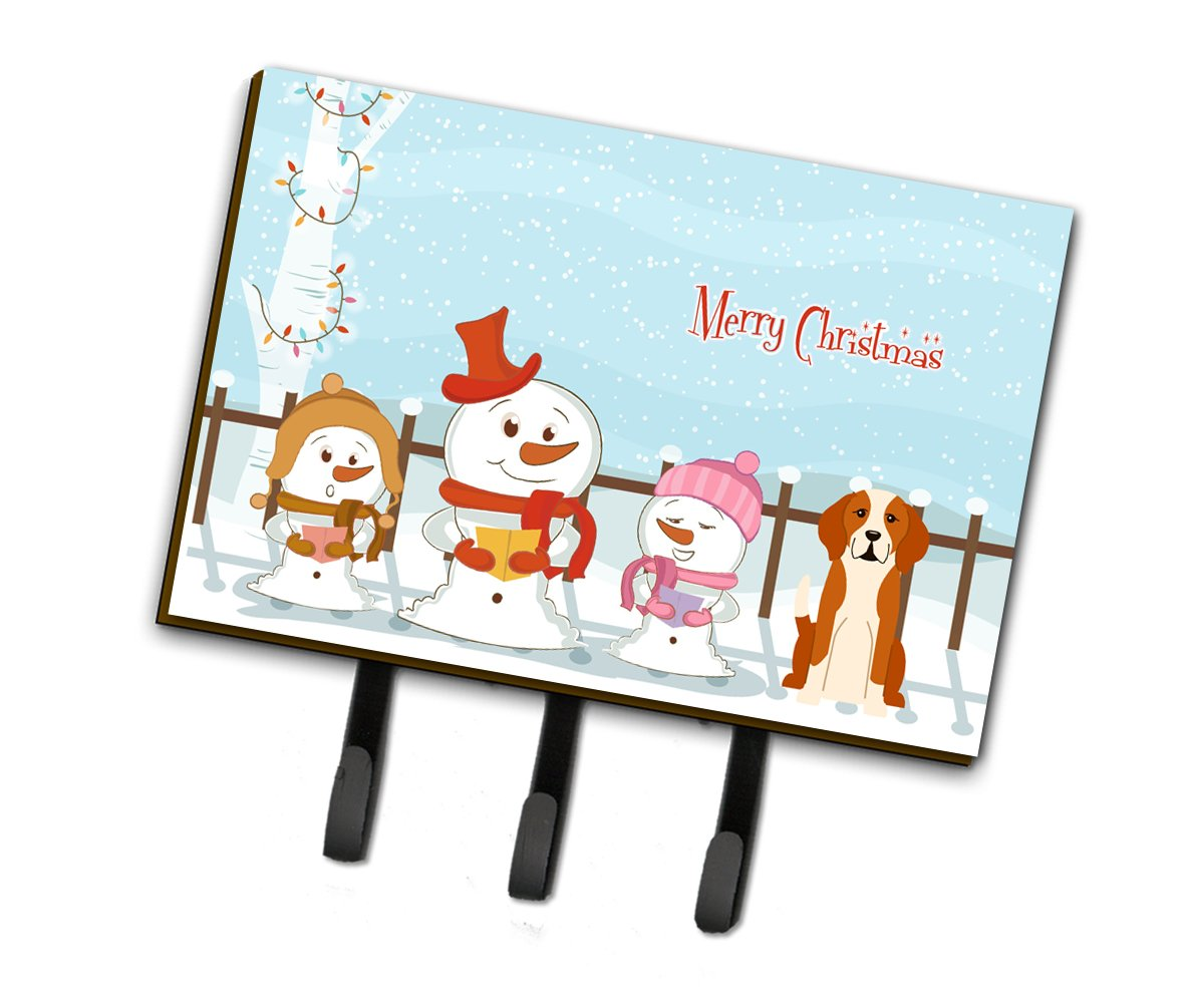 Merry Christmas Carolers English Foxhound Leash or Key Holder BB2441TH68 by Caroline's Treasures