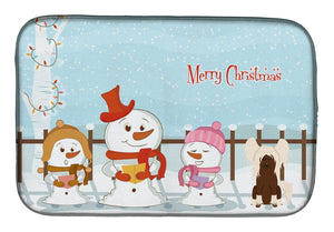 Buy this Merry Christmas Carolers Chinese Crested Cream Dish Drying Mat BB2444DDM