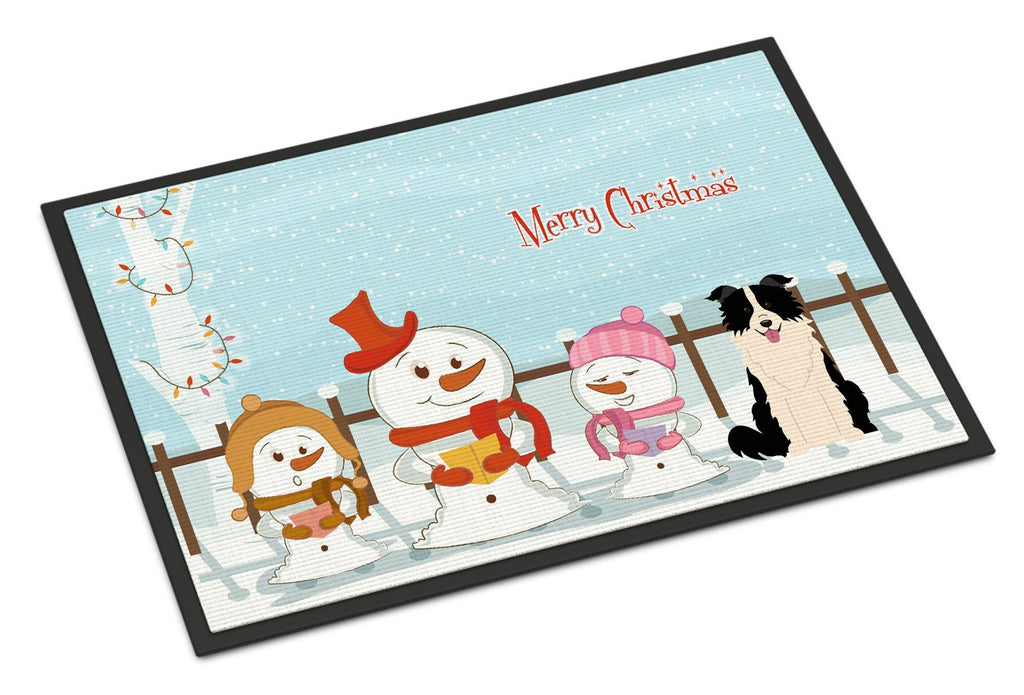 Buy this Merry Christmas Carolers Border Collie Black White Indoor or Outdoor Mat 24x36 BB2449JMAT