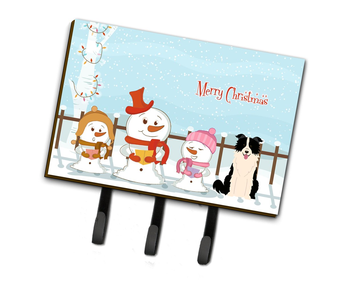 Buy this Merry Christmas Carolers Border Collie Black White Leash or Key Holder BB2449TH68