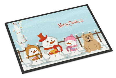 Buy this Merry Christmas Carolers English Bulldog Fawn Indoor or Outdoor Mat 24x36 BB2455JMAT