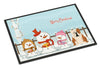 Buy this Merry Christmas Carolers English Bulldog Fawn White Indoor or Outdoor Mat 24x36 BB2456JMAT