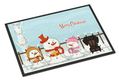 Buy this Merry Christmas Carolers Dachshund Black Tan Indoor or Outdoor Mat 24x36 BB2463JMAT