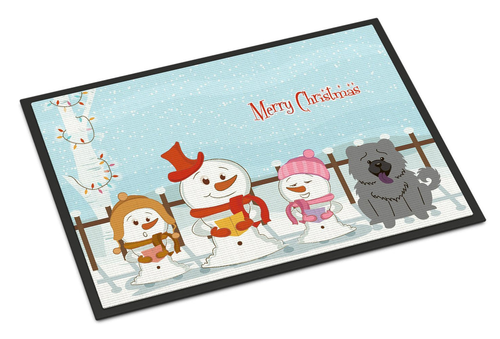 Buy this Merry Christmas Carolers Chow Chow Blue Indoor or Outdoor Mat 18x27 BB2470MAT