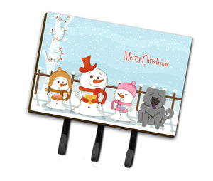 Buy this Merry Christmas Carolers Chow Chow Blue Leash or Key Holder BB2470TH68
