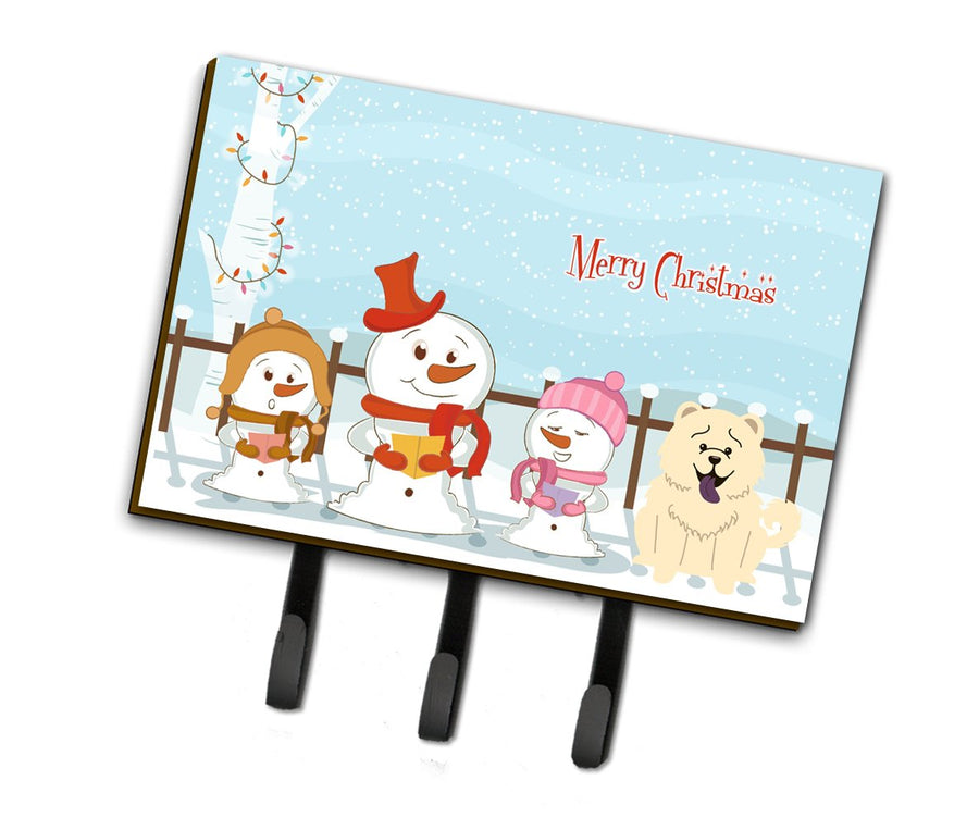 Buy this Merry Christmas Carolers Chow Chow White Leash or Key Holder BB2471TH68