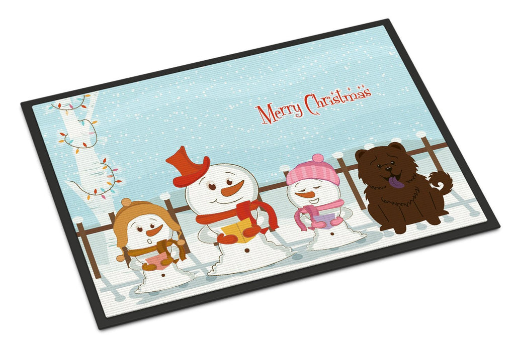 Buy this Merry Christmas Carolers Chow Chow Chocolate Indoor or Outdoor Mat 18x27 BB2472MAT