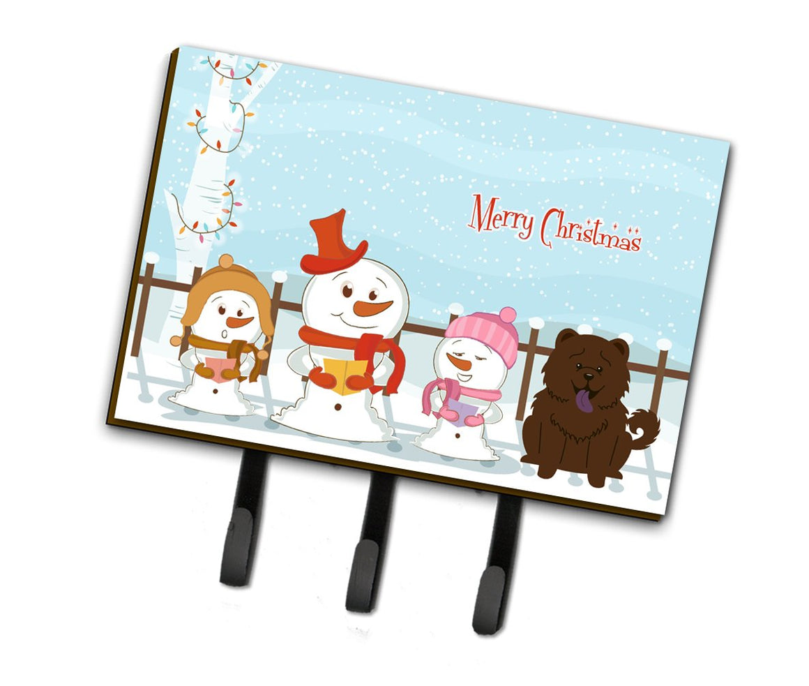 Buy this Merry Christmas Carolers Chow Chow Chocolate Leash or Key Holder BB2472TH68