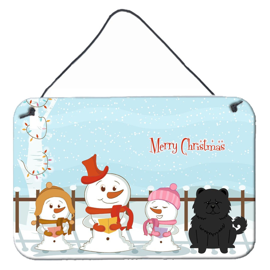 Buy this Merry Christmas Carolers Chow Chow Black Wall or Door Hanging Prints BB2474DS812
