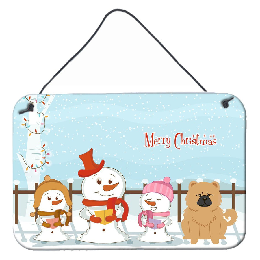 Buy this Merry Christmas Carolers Chow Chow Cream Wall or Door Hanging Prints BB2475DS812