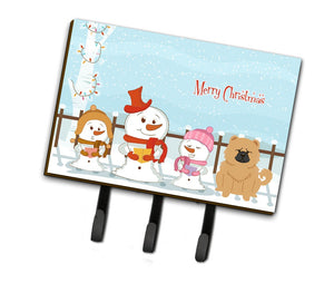 Buy this Merry Christmas Carolers Chow Chow Cream Leash or Key Holder BB2475TH68