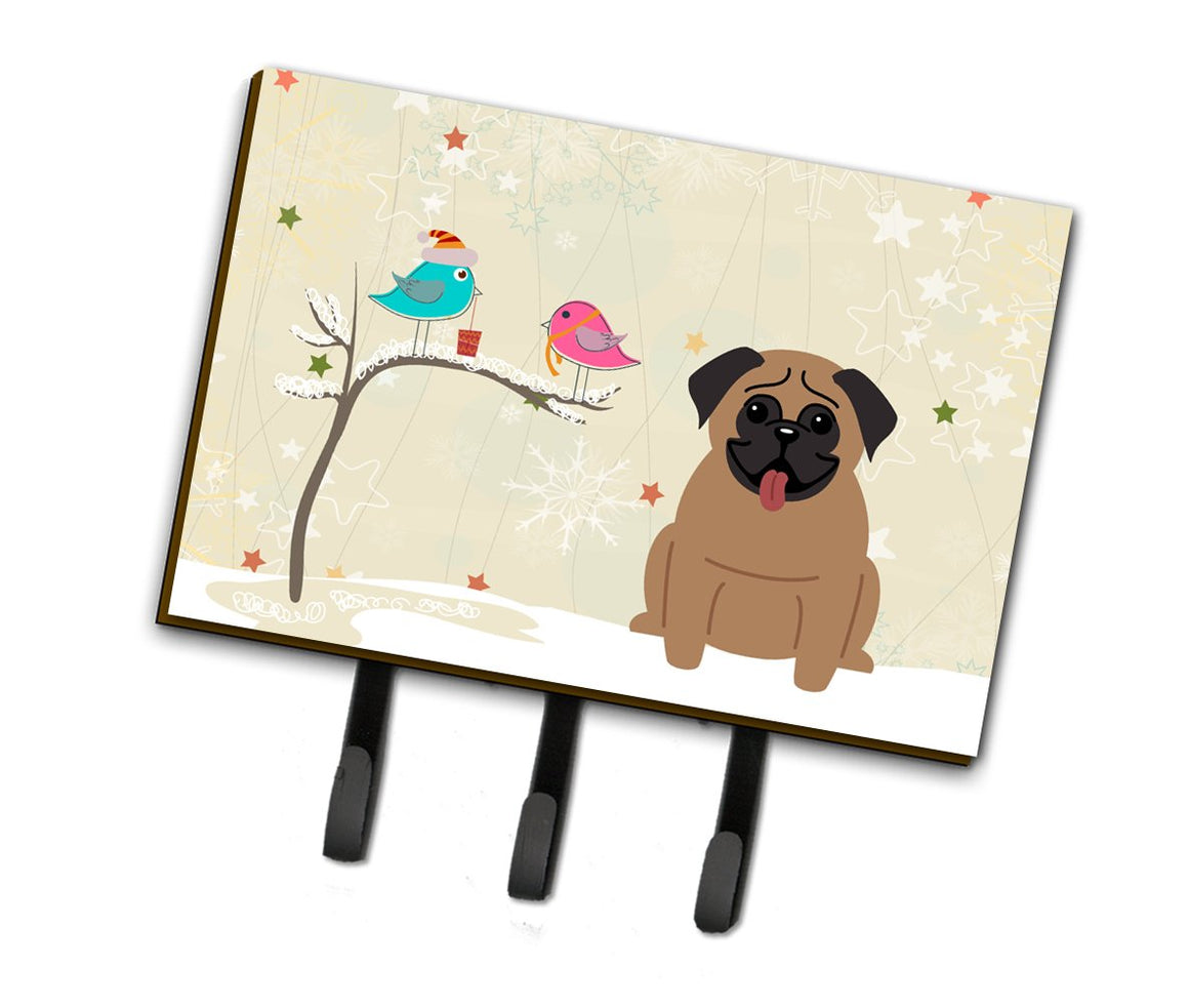 Buy this Christmas Presents between Friends Pug Brown Leash or Key Holder BB2477TH68