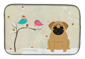 Buy this Christmas Presents between Friends Pug Brown Dish Drying Mat BB2479DDM