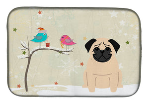 Buy this Christmas Presents between Friends Pug Fawn Dish Drying Mat BB2480DDM