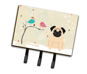 Buy this Christmas Presents between Friends Pug Fawn Leash or Key Holder BB2480TH68