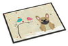 Christmas Presents between Friends French Bulldog Cream Indoor or Outdoor Mat 24x36 BB2482JMAT - the-store.com