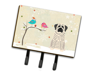 Buy this Christmas Presents between Friends Mastiff Brindle White Leash or Key Holder BB2488TH68