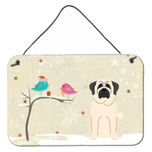 Buy this Christmas Presents between Friends Mastiff White Wall or Door Hanging Prints BB2489DS812