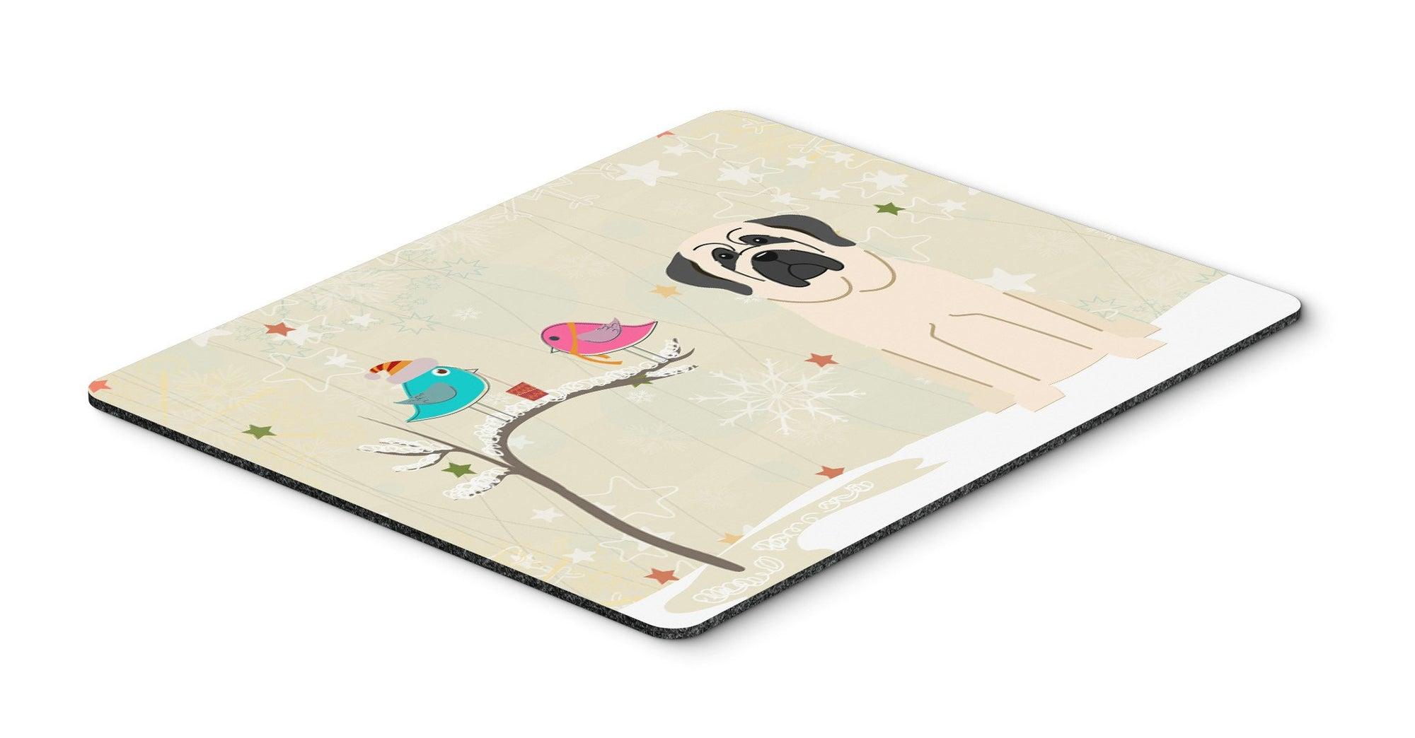Christmas Presents between Friends Mastiff White Mouse Pad, Hot Pad or Trivet BB2489MP by Caroline's Treasures