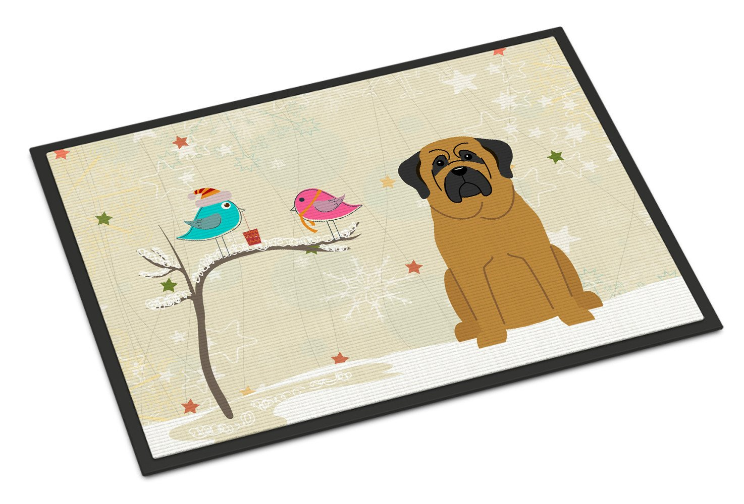 Christmas Presents between Friends Mastiff Indoor or Outdoor Mat 18x27 BB2490MAT by Caroline's Treasures
