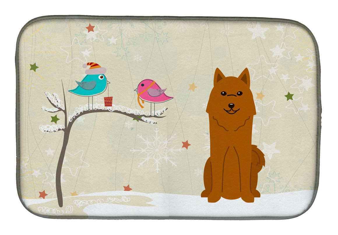 Buy this Christmas Presents between Friends Karelian Bear Dog Dish Drying Mat BB2494DDM