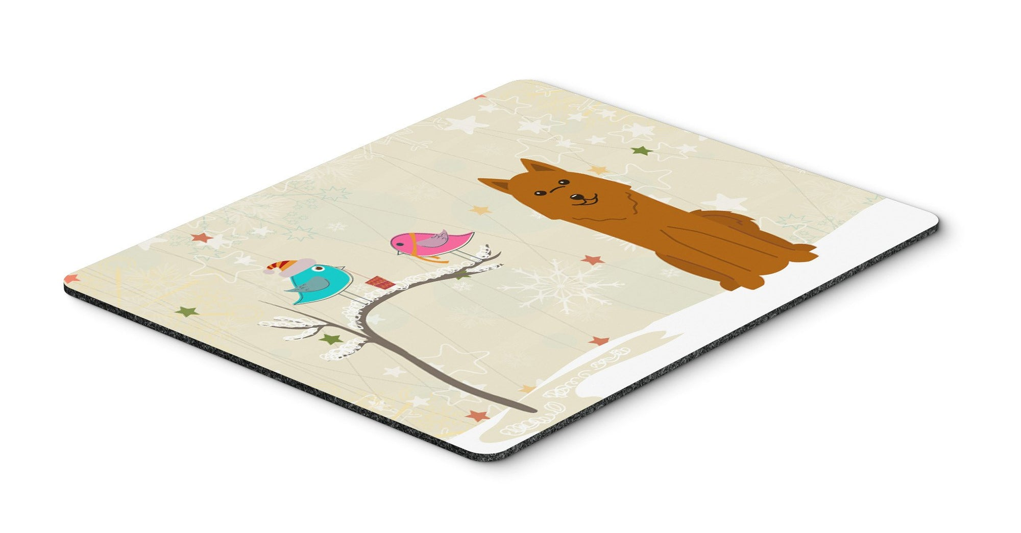 Christmas Presents between Friends Karelian Bear Dog Mouse Pad, Hot Pad or Trivet BB2494MP by Caroline's Treasures